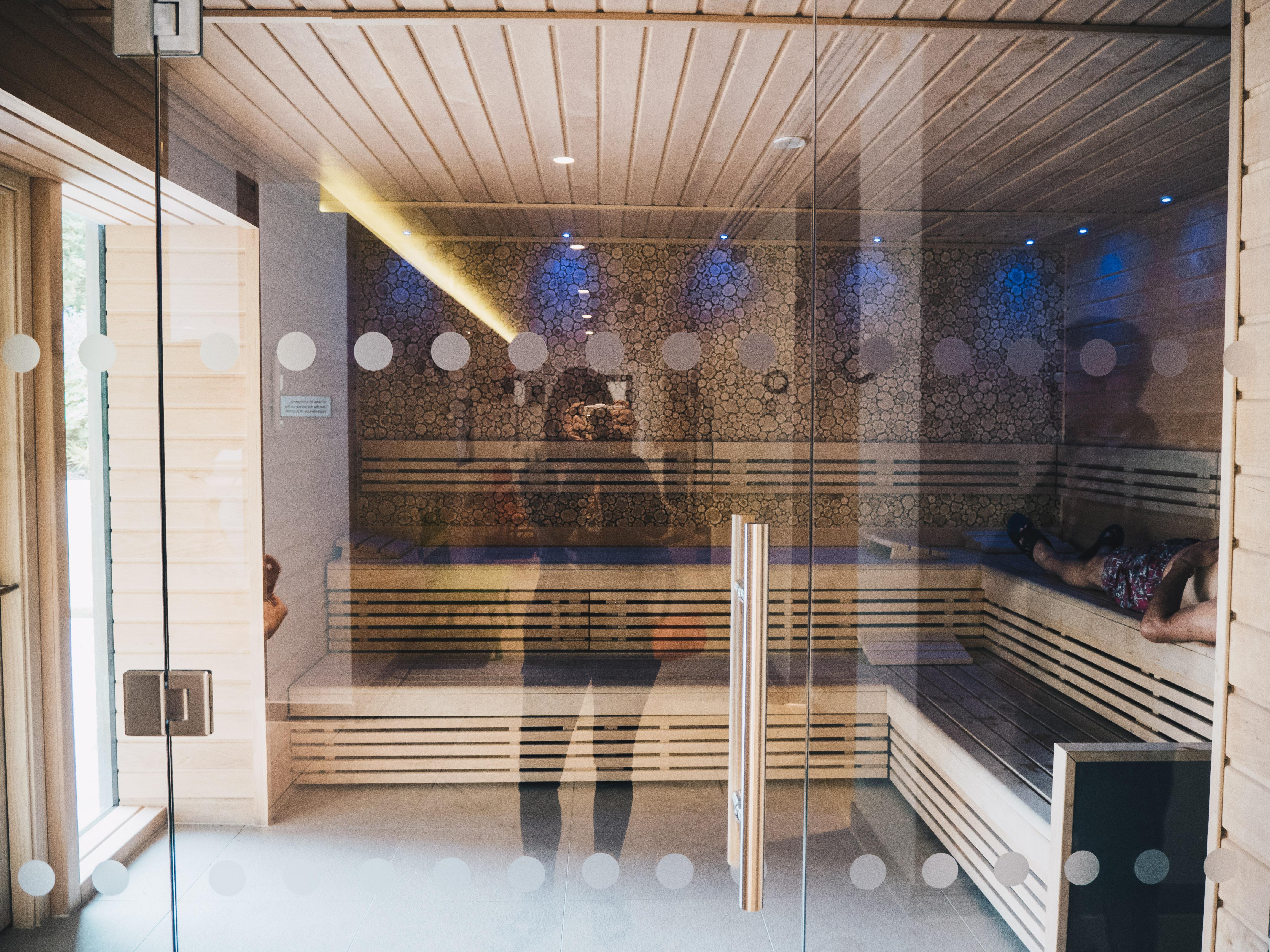 Indoor Sauna Experience Showers